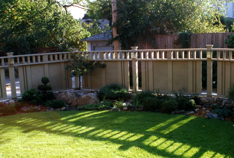 Welcome to fleming landscape gardens gallery for Craftsman style fence